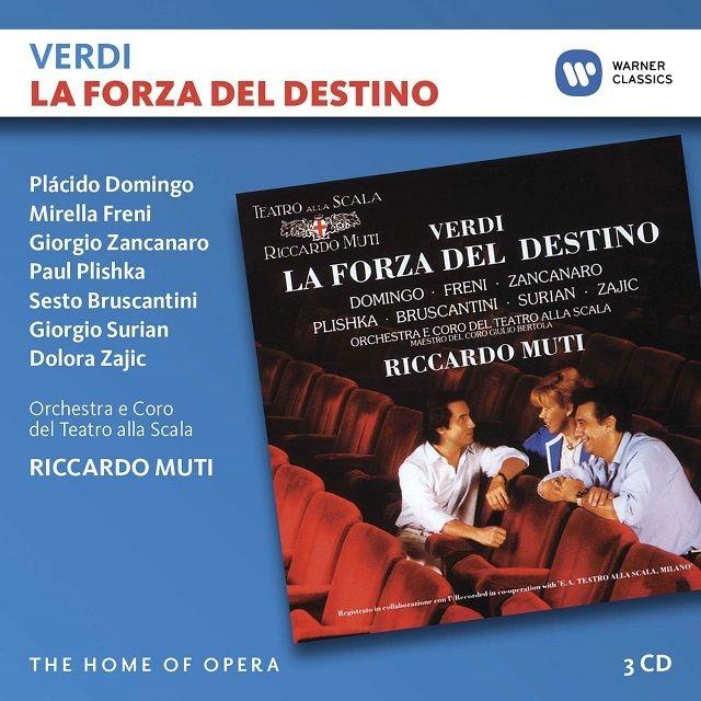 『運命の力』全曲 リッカルド・ムーティ&スカラ座、ミレッラ・フレーニ、プラシド・ドミンゴ、ジョルジョ・ザンカナーロ、他(1986 ステレオ)(3CD)