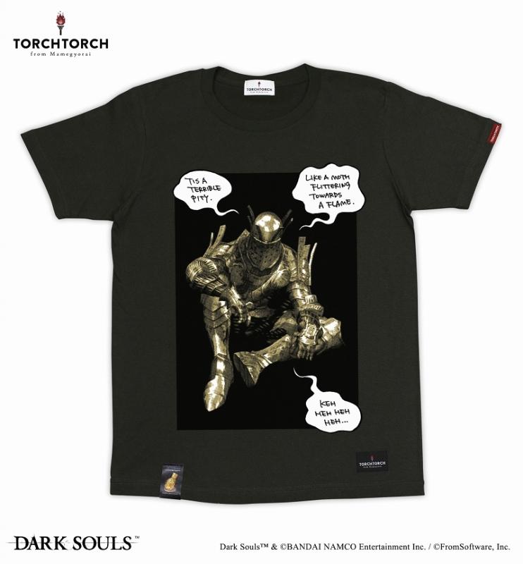 ダークソウル×TORCH TORCH / 女神の騎士ロートレクのTシャツ: インクブラック Sサイズ【再販分】