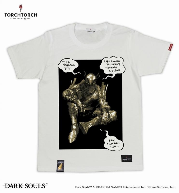 ダークソウル×TORCH TORCH / 女神の騎士ロートレクのTシャツ: ホワイト XLサイズ【再販分】