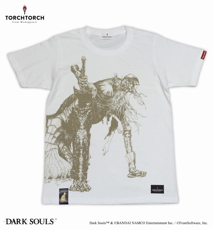ダークソウル×TORCH TORCH / 双王子ローリアンとロスリックのTシャツ: ホワイト Sサイズ【再販分】