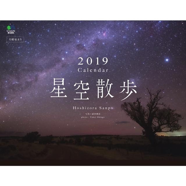 カレンダー2019 星空散歩 壁掛けタイプ B4ワイド