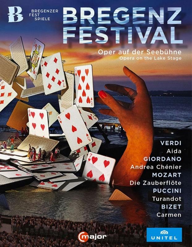 ブレゲンツ音楽祭 湖上オペラ・ボックス・セット〜『アイーダ』『アンドレア・シェニエ』『魔笛』『トゥーランドット』『カルメン』(5BD)