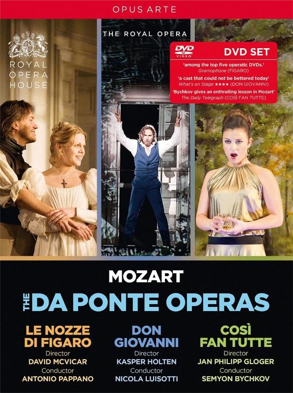 コヴェント・ガーデン王立歌劇場〜フィガロの結婚(2006)、ドン・ジョヴァンニ(2014)、コジ・ファン・トゥッテ(2016)(5DVD)
