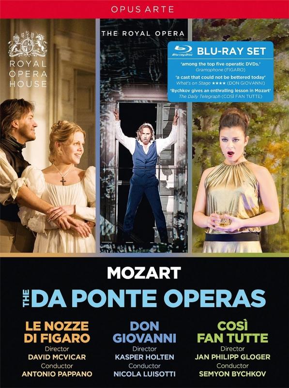 コヴェント・ガーデン王立歌劇場〜フィガロの結婚(2006)、ドン・ジョヴァンニ(2014)、コジ・ファン・トゥッテ(2016)(4BD)