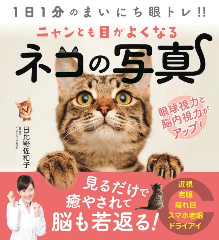 ニャンとも目がよくなるネコの写真