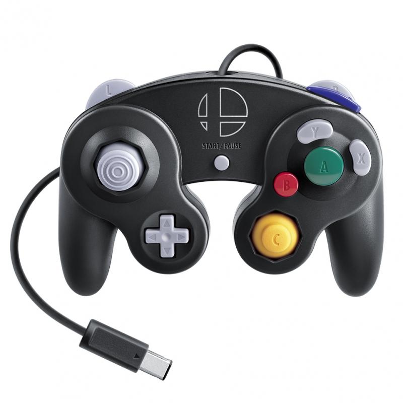 ニンテンドー ゲームキューブ コントローラ スマブラブラック