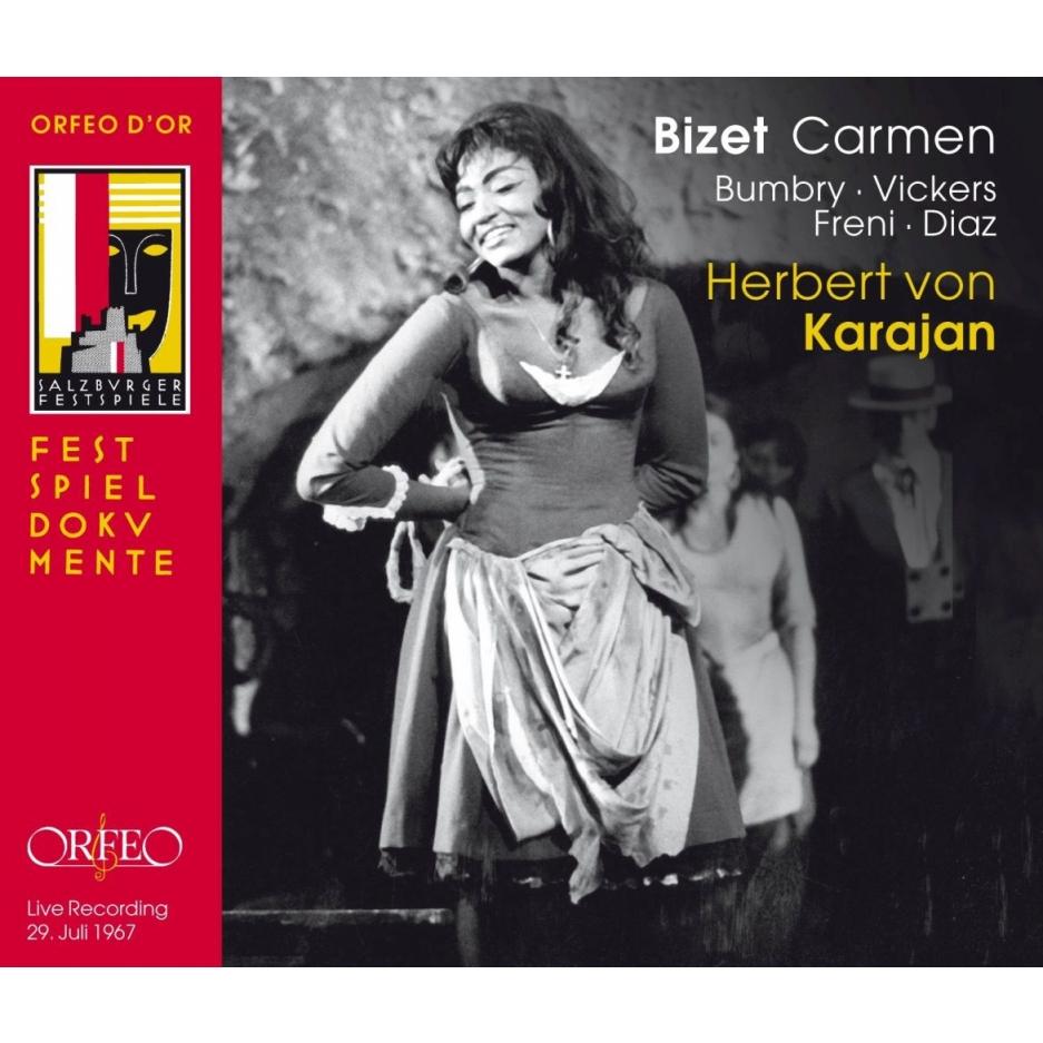 『カルメン』全曲 ヘルベルト・フォン・カラヤン&ウィーン・フィル、バンブリー、ヴィッカーズ、フレーニ、ディアス、他(1967 モノラル)(3CD)