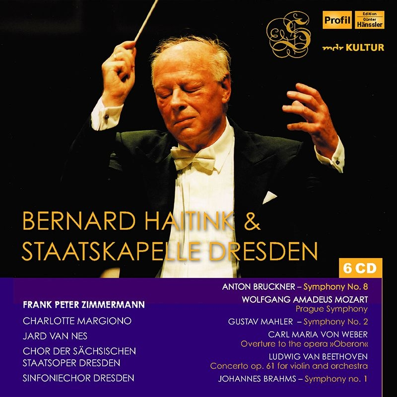 ベルナルド・ハイティンク&シュターツカペレ・ドレスデン/ライヴ集〜ブルックナー:交響曲第8番、マーラー:『復活』、ブラームス:交響曲第1番、他(6CD)