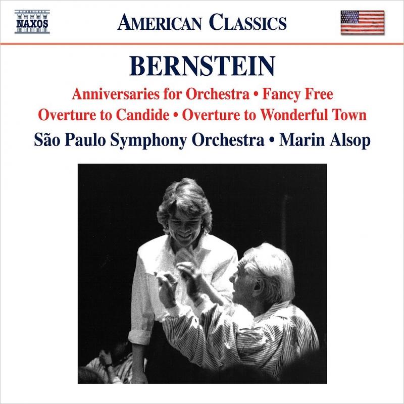 ファンシー・フリー、オーケストラのための記念日、『キャンディード』序曲、『ワンダフル・タウン』序曲 マリン・オルソップ&サンパウロ交響楽団