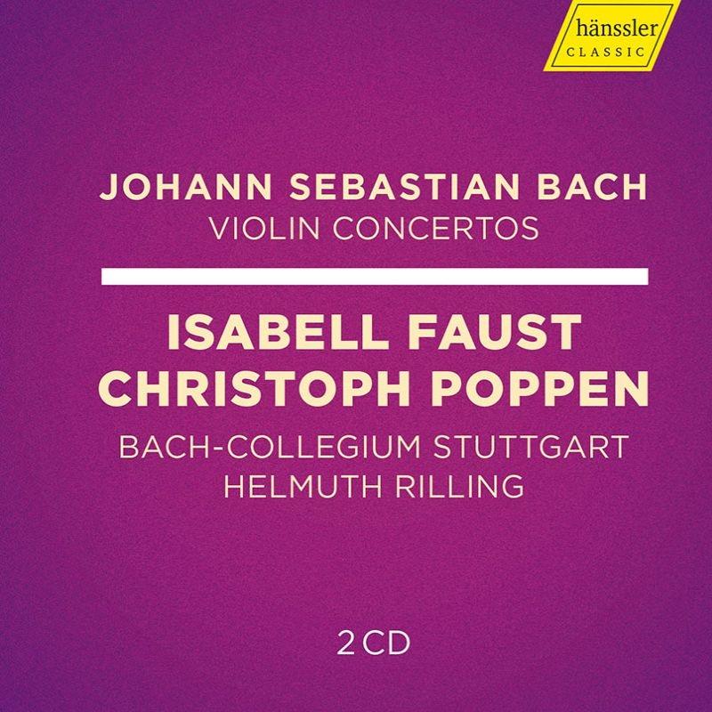 ヴァイオリン協奏曲集 クリストフ・ポッペン、イザベル・ファウスト、ヘルムート・リリング&シュトゥットガルト・バッハ・コレギウム(2CD)