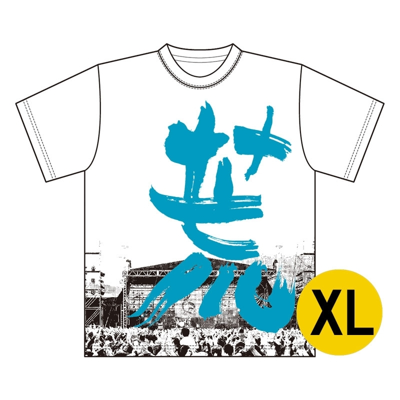 漢字フォトTシャツ ブルー XLサイズ