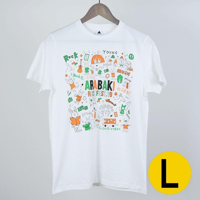 あらちゃんとばきちゃんTシャツ ホワイト Lサイズ