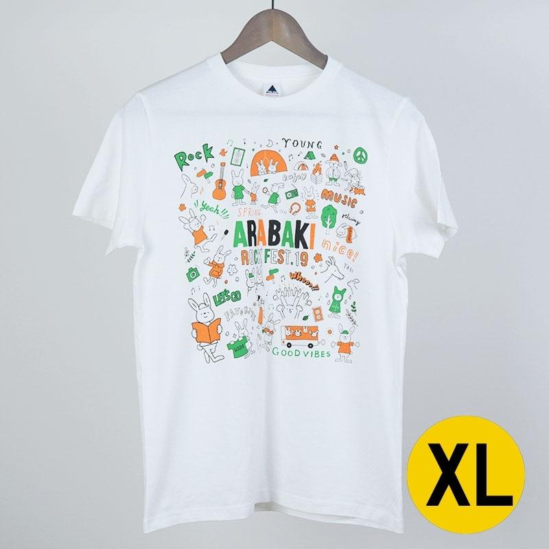 あらちゃんとばきちゃんTシャツ ホワイト XLサイズ