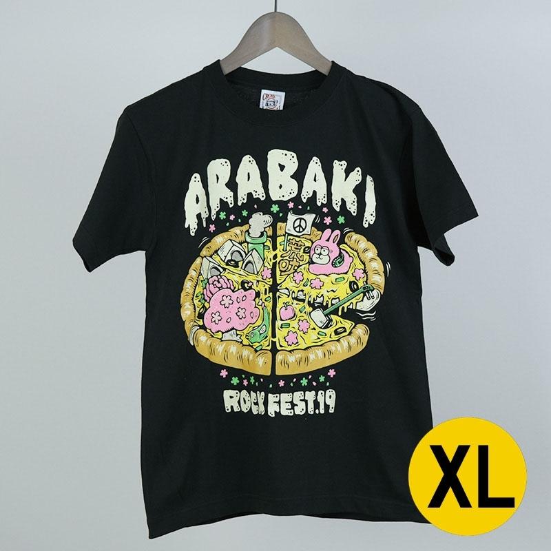 荒吐ピザTシャツ designed by 渡辺奈央 ブラック XLサイズ