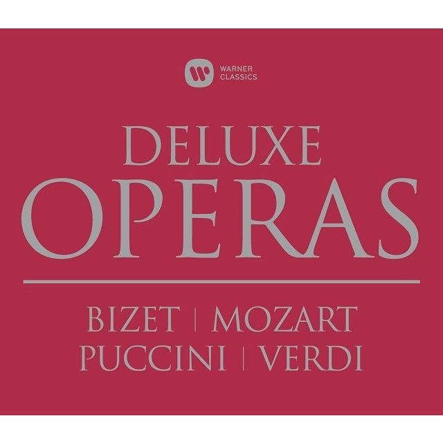 カルメン(ビーチャム指揮)、魔笛(クレンペラー指揮)、ドン・ジョヴァンニ(ジュリーニ指揮)、椿姫(ムーティ指揮)、トスカ(プレートル指揮)(12CD)