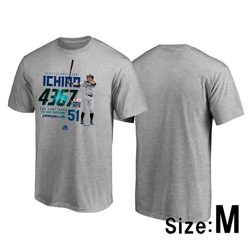 イチロー引退記念Tシャツ 2 Gray Mサイズ