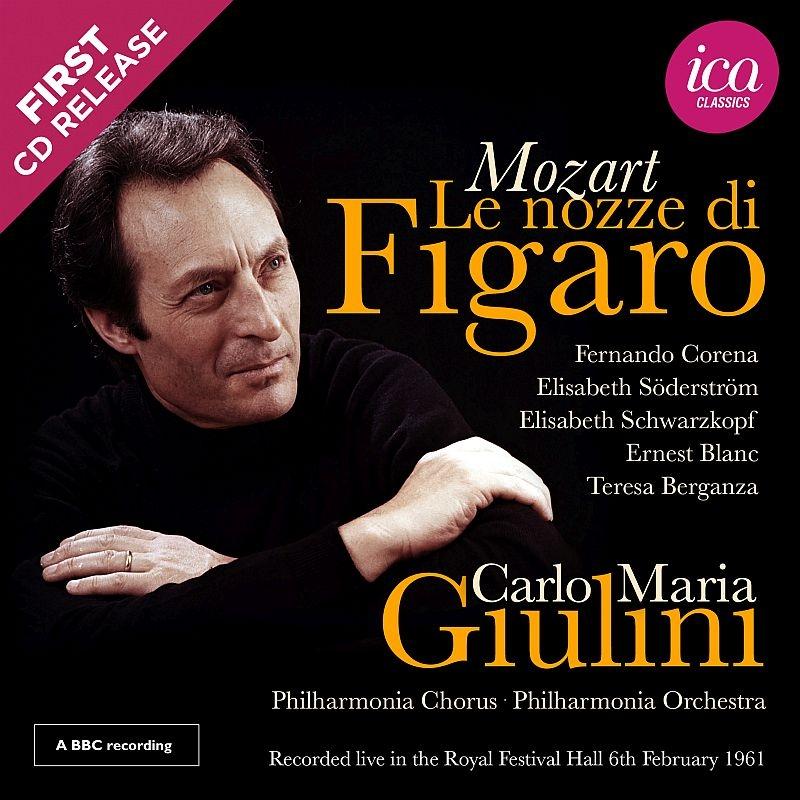 『フィガロの結婚』全曲 カルロ・マリア・ジュリーニ&フィルハーモニア管弦楽団、フェルナンド・コレナ、エリーザベト・シュヴァルツコップ、他(1961モノラル)(2CD)
