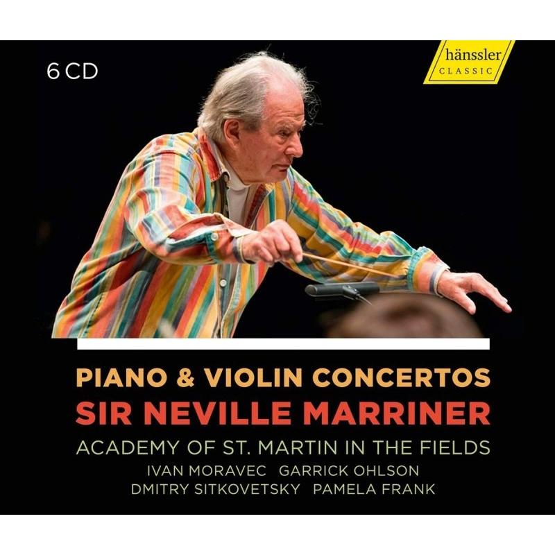 ピアノ協奏曲&ヴァイオリン協奏曲録音集 ネヴィル・マリナー&アカデミー室内管弦楽団、モラヴェツ、オールソン、シトコヴェツキー、他(6CD)