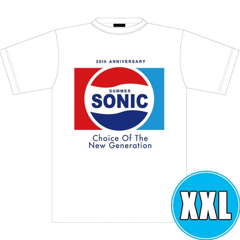 ソニックTシャツ WHITE (XXL)※事後販売分