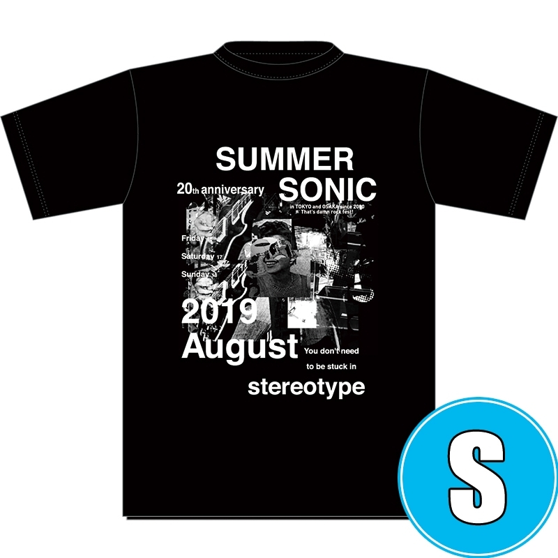フォトコラージュTシャツ BLACK (S)※事後販売分