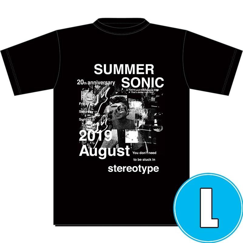 フォトコラージュTシャツ BLACK (L)※事後販売分