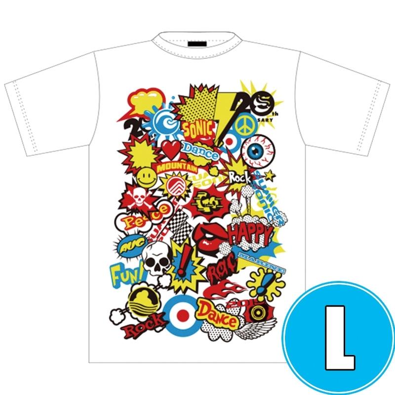 POP ROCK Tシャツ WHTE (L)※事後販売分