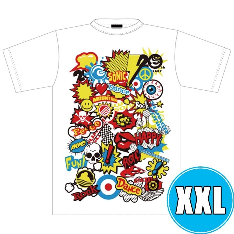 POP ROCK Tシャツ WHTE (XXL)※事後販売分