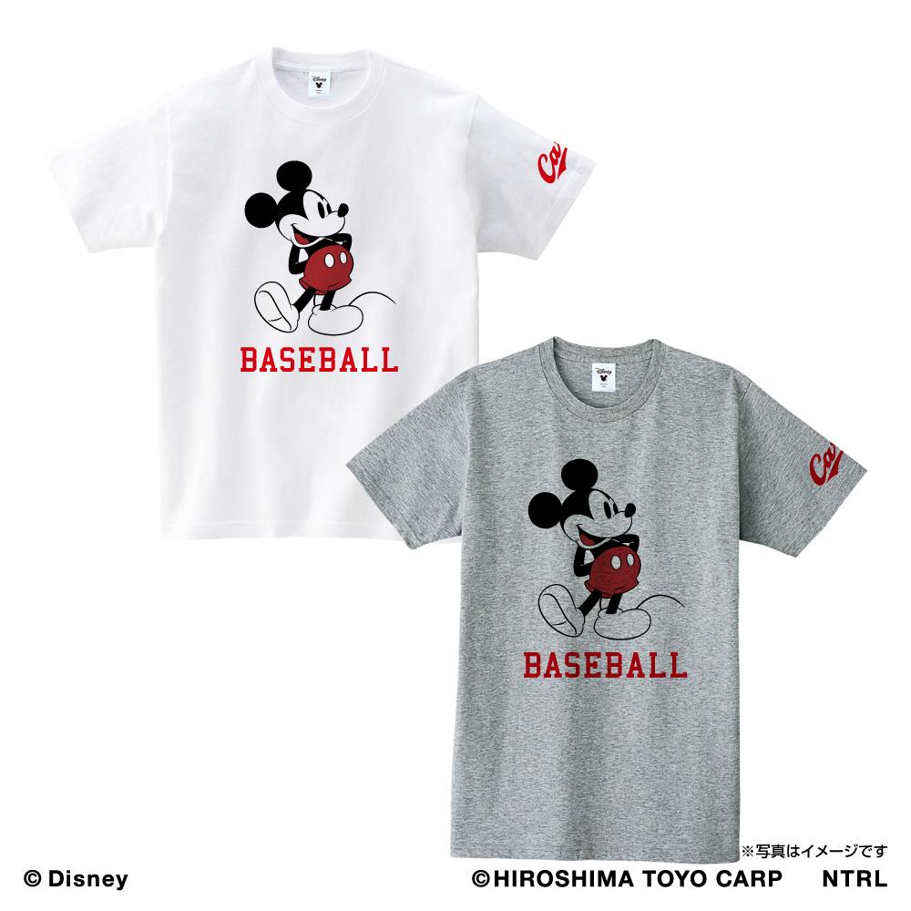 広島東洋カープ×ミッキーマウス Tシャツ<BASEBALL>