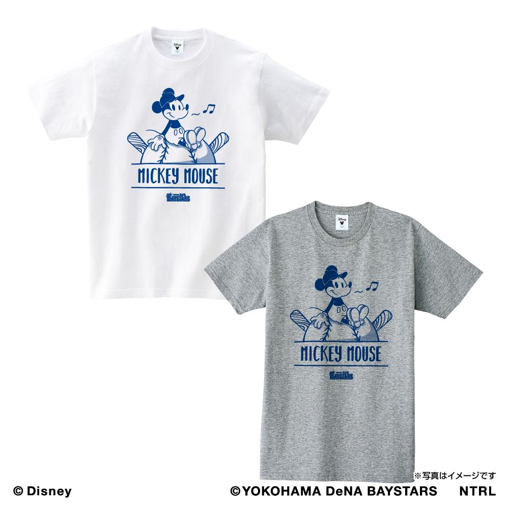 横浜DeNAベイスターズ×ミッキーマウス Tシャツ<ひとやすみ>