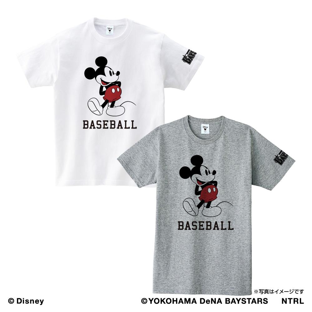 横浜DeNAベイスターズ×ミッキーマウス Tシャツ<BASEBALL>