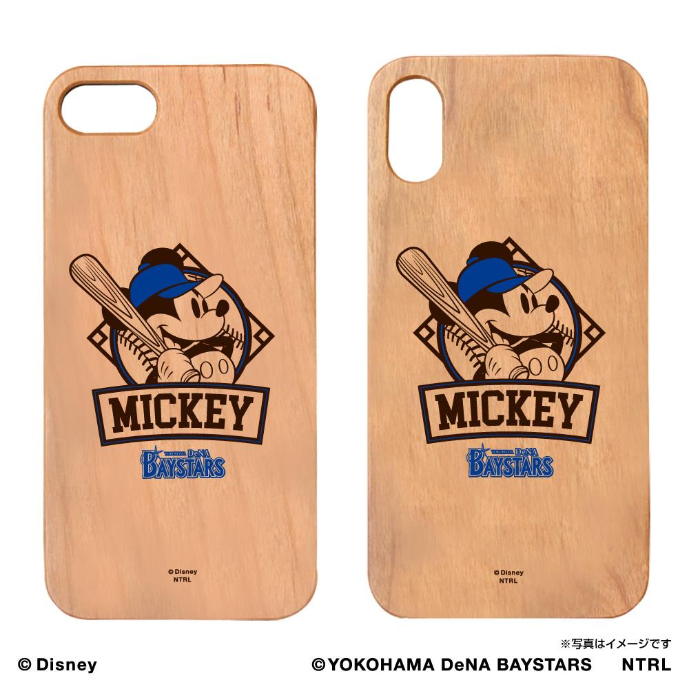 横浜DeNAベイスターズ×ミッキーマウス ウッドiPhoneケース