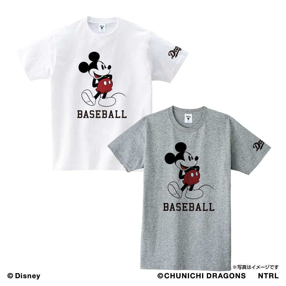 中日ドラゴンズ×ミッキーマウス Tシャツ<BASEBALL>