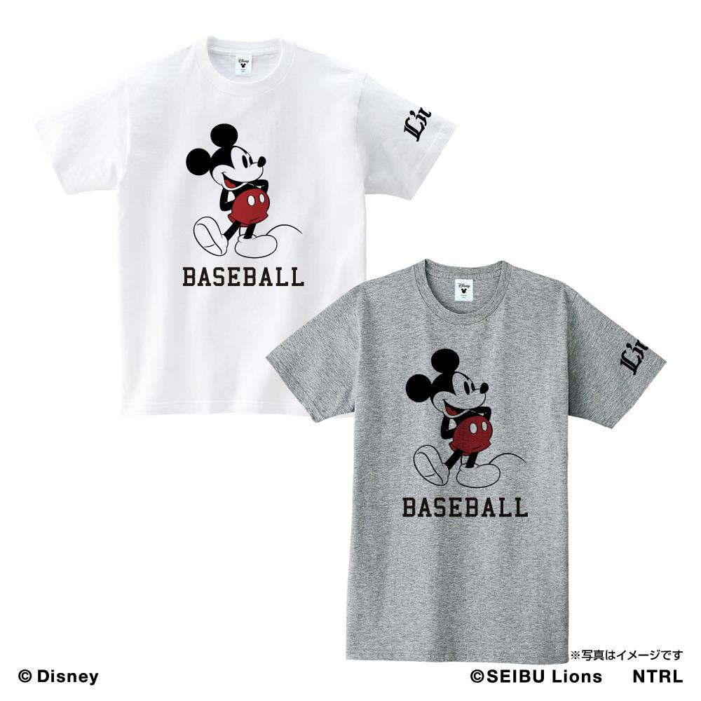 埼玉西武ライオンズ×ミッキーマウス Tシャツ<BASEBALL>