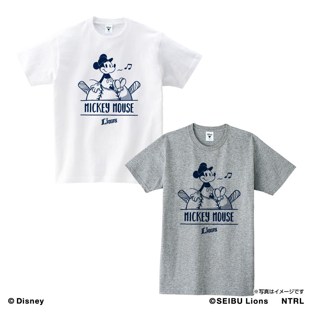 埼玉西武ライオンズ×ミッキーマウス Tシャツ<ひとやすみ>