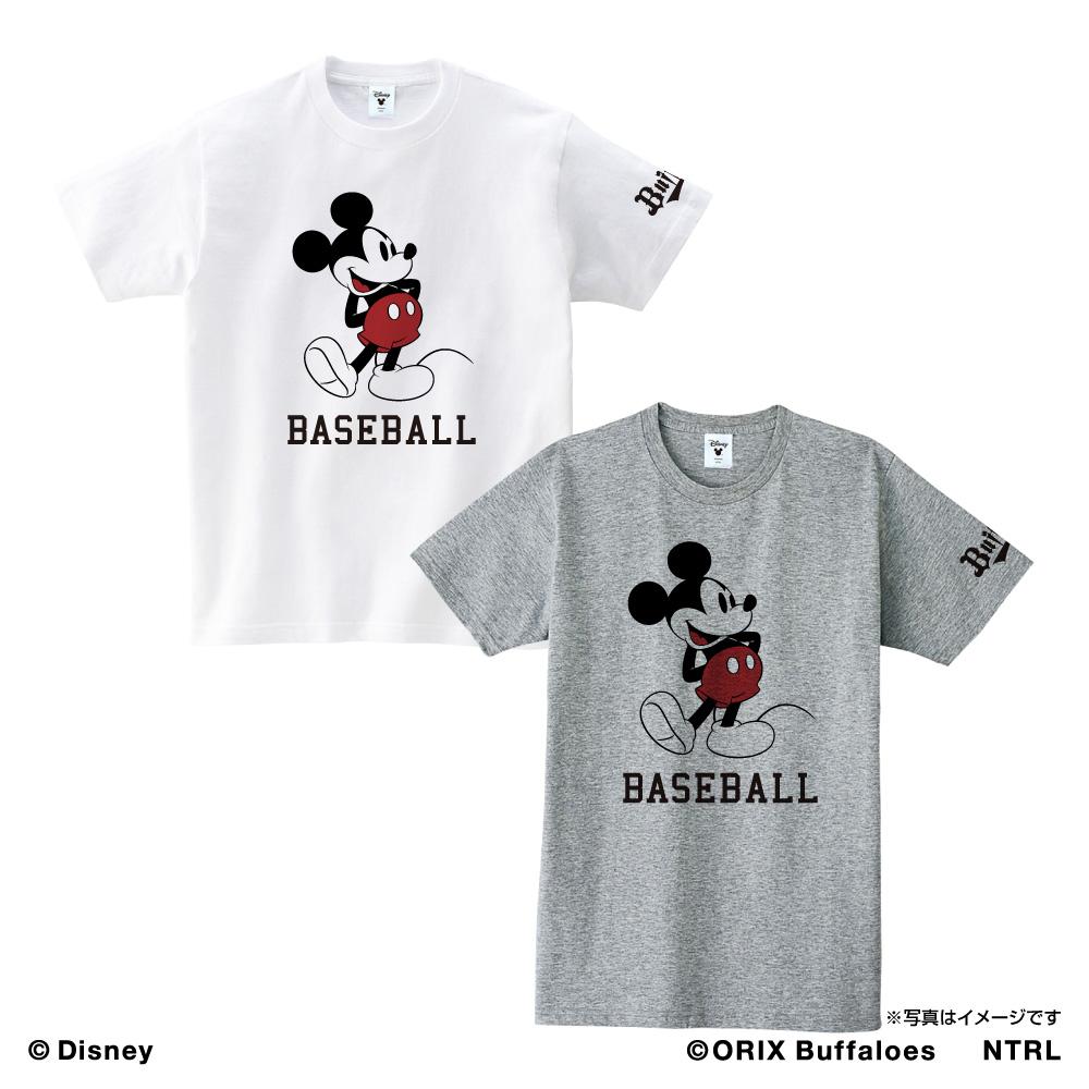 オリックス・バファローズ×ミッキーマウス Tシャツ<BASEBALL>