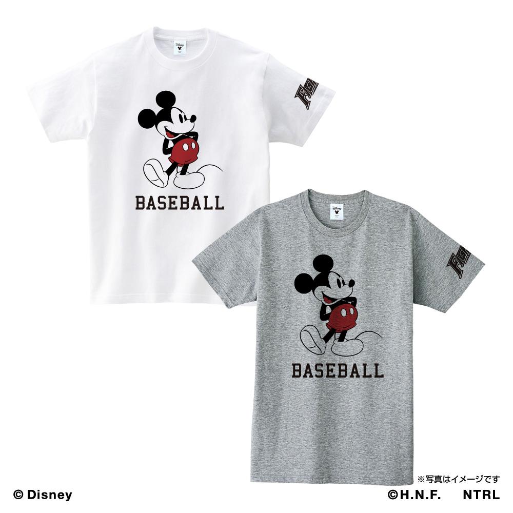 北海道日本ハムファイターズ×ミッキーマウス Tシャツ<BASEBALL>
