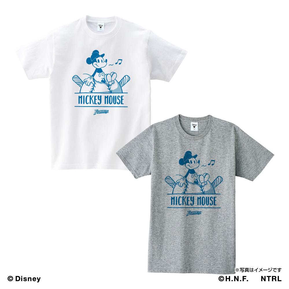 北海道日本ハムファイターズ×ミッキーマウス Tシャツ<ひとやすみ>