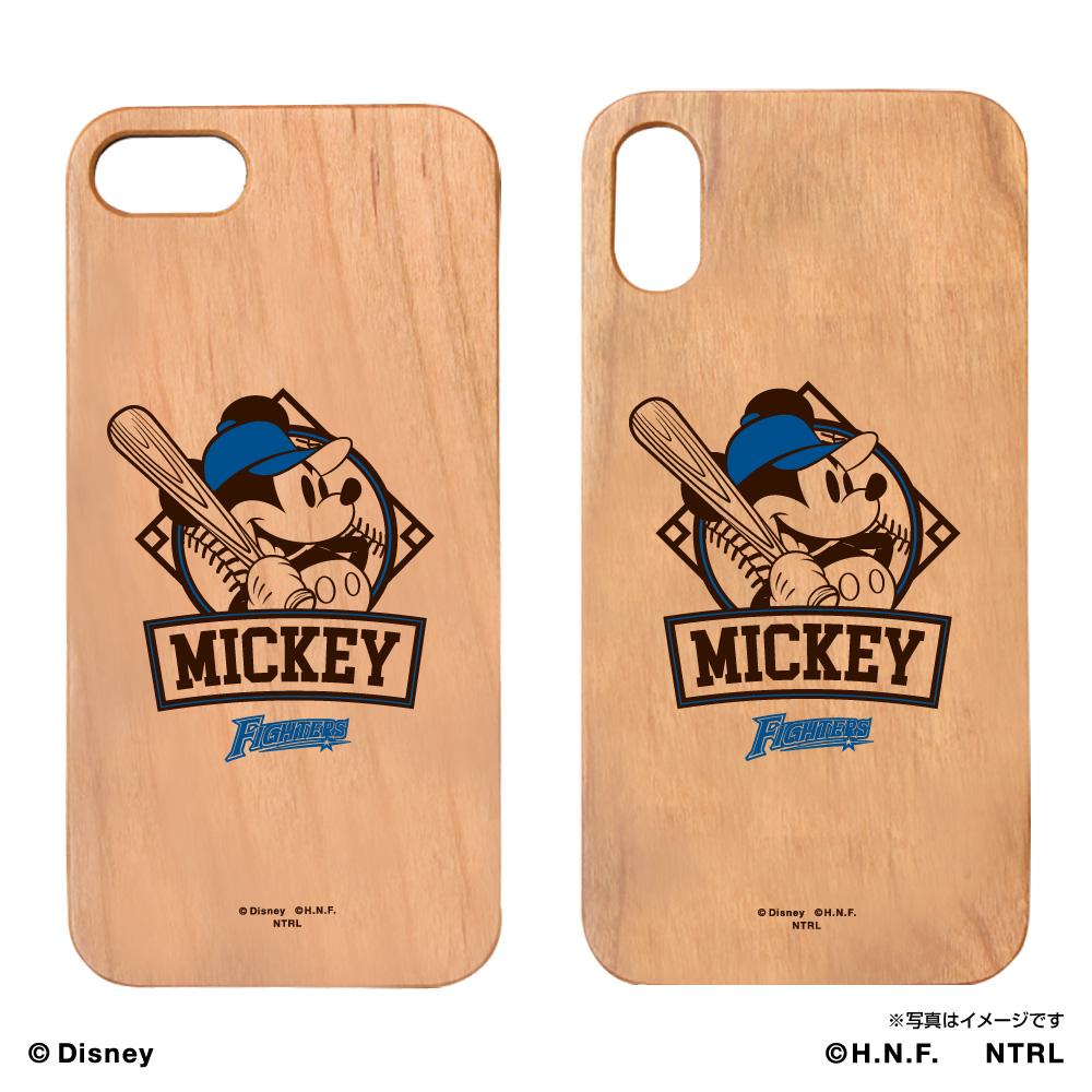 北海道日本ハムファイターズ×ミッキーマウス ウッドiPhoneケース
