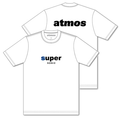 SUPERSONIC×atmos コラボTシャツ ホワイト