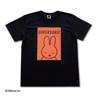 SUPERSONIC×miffy コラボTシャツ ブラック