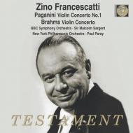 フランチェスカッティ/ブラームス:ヴァイオリン協奏曲、他