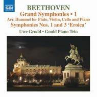フルート&ピアノ・トリオ版、ベートーヴェン:交響曲第1、3番