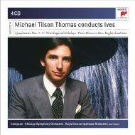 ティルソン・トーマス/アイヴス:交響曲全集、管弦楽曲集、歌曲集(4CD...