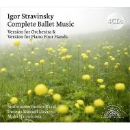 ストラヴィンスキーの3大バレエを管弦楽版と4手ピアノ版で収録