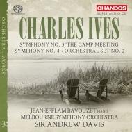 アンドルー・デイヴィスのアイヴズ交響曲第3&4番、ほか