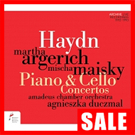 【在庫特価】アルゲリッチ、マイスキー/ハイドン:ピアノ協奏曲、チェロ協奏曲第1番